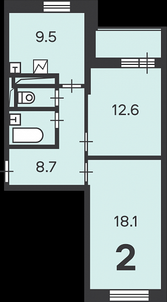 Планировки двухкомнатных квартир по реновации. Смотрим и разбираем. Удачнее ли однокомнатных